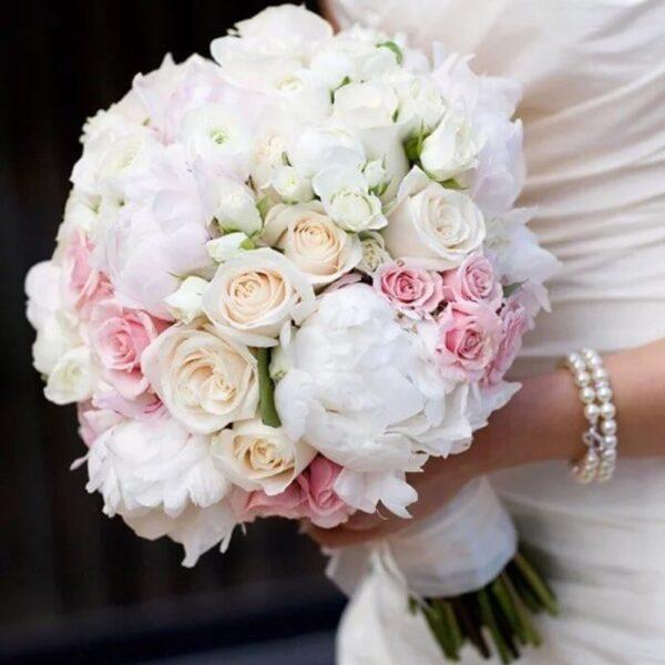 Букет невесты из белых роз №5 - фото 1