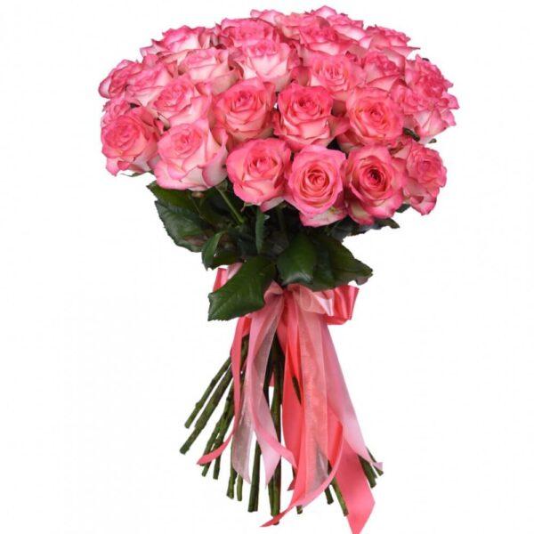 Букет из 25 нежных роз - фото 1