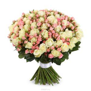 """Букет из 101 розы """"Прогулка по Венеции"""" - фото 1"""
