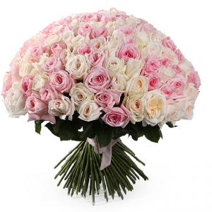 Букет из 101 французской розы - фото 1