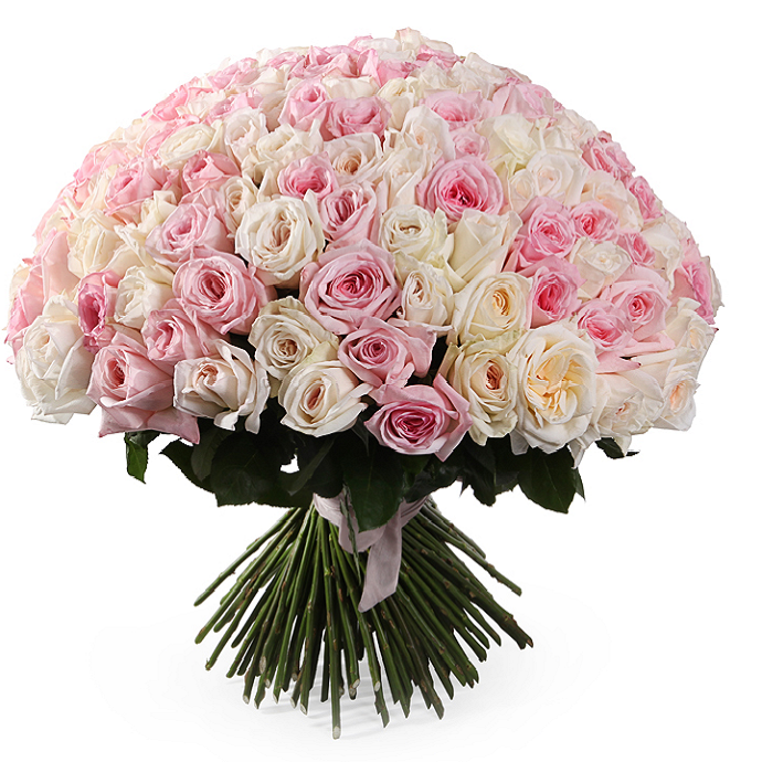 Букет 101 французская роза, изображение 1