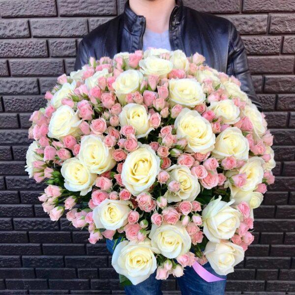 """Букет из 101 розы """"Прогулка по Венеции"""" - фото 2"""