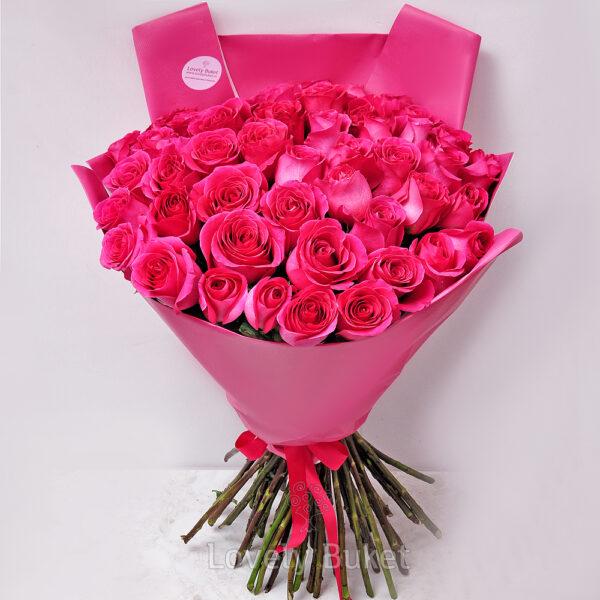 "Букет из 25 роз ""Pink floyd"" - фото 3"