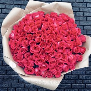"Букет из 25 роз ""Pink floyd"" - фото 4"