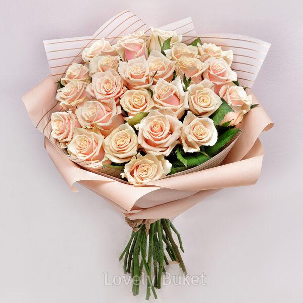 Букет из 25 роз Венеция - фото 1