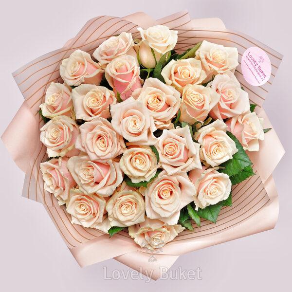 Букет из 25 роз Венеция - фото 2