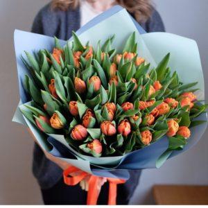 """Букет тюльпанов """"Orange juice"""" - фото 1"""
