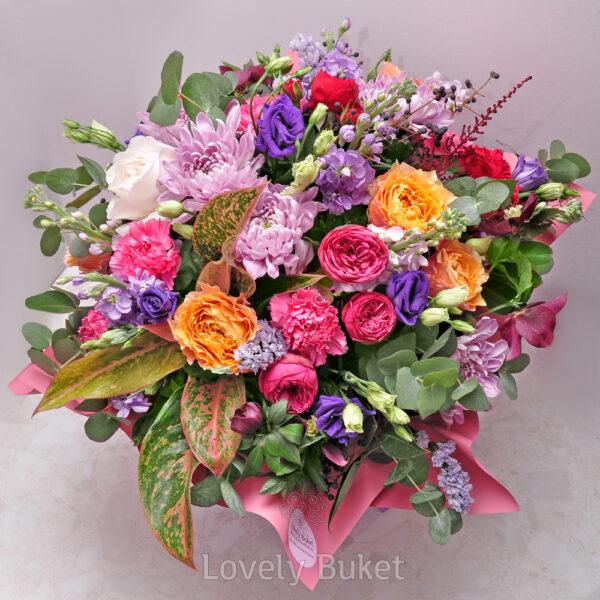 """Цветочная композиция в шляпной коробке с цветами """"Du Soleil"""" - фото 1"""