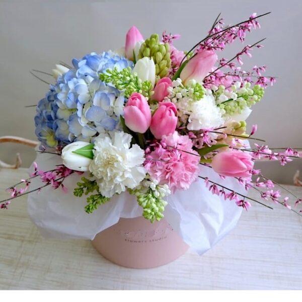 """Букет тюльпанов """"Нежный вальс"""" - фото 1"""