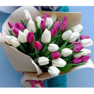 """Букет тюльпанов """"Расцветающие весной..."""" - фото 1"""