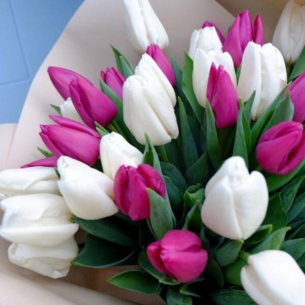 """Букет тюльпанов """"Расцветающие весной..."""" - фото 2"""