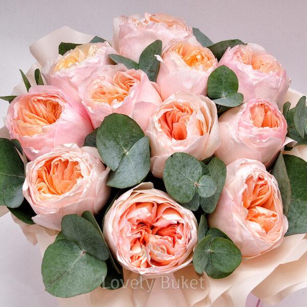 """Букет пионовидных роз """"David Austin"""" - фото 2"""