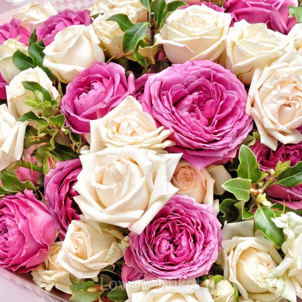 """Букет кустовых роз """"Bubbles"""" - фото 2"""