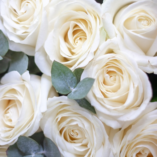 "Букет роз ""Avalanche и эвкалипт"" - фото 3"