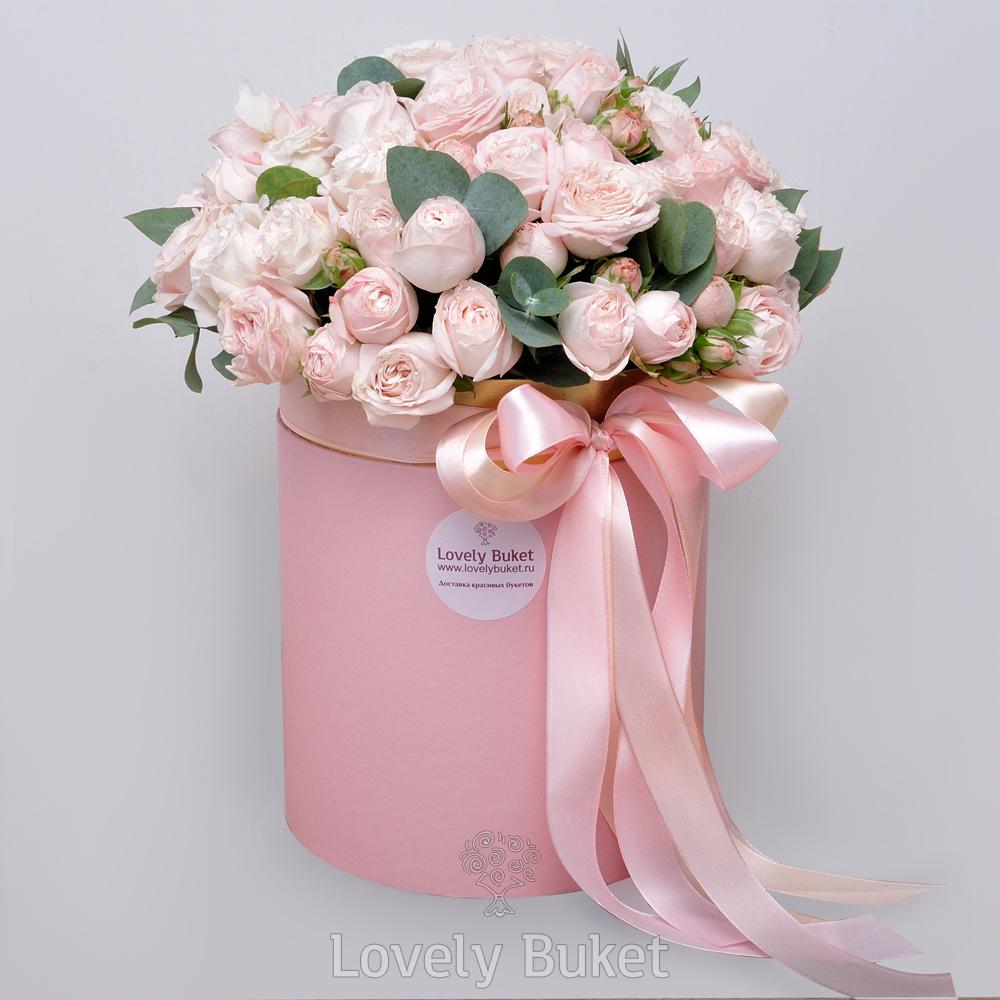 Букет Пионовидная роза Bombastic в коробке, изображение 1