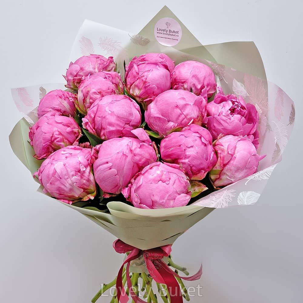 Букет Отборные розовые пионы, изображение 1
