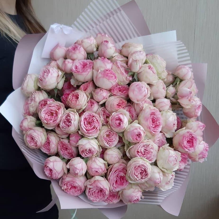 """Букет Пионовидные розы """"Мэнс Филд"""", изображение 1"""