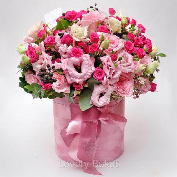"""Букет роз в коробке """"Prima"""" - фото 2"""