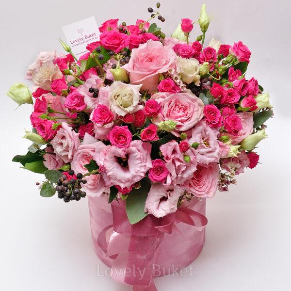 """Букет роз в коробке """"Prima"""" - фото 1"""