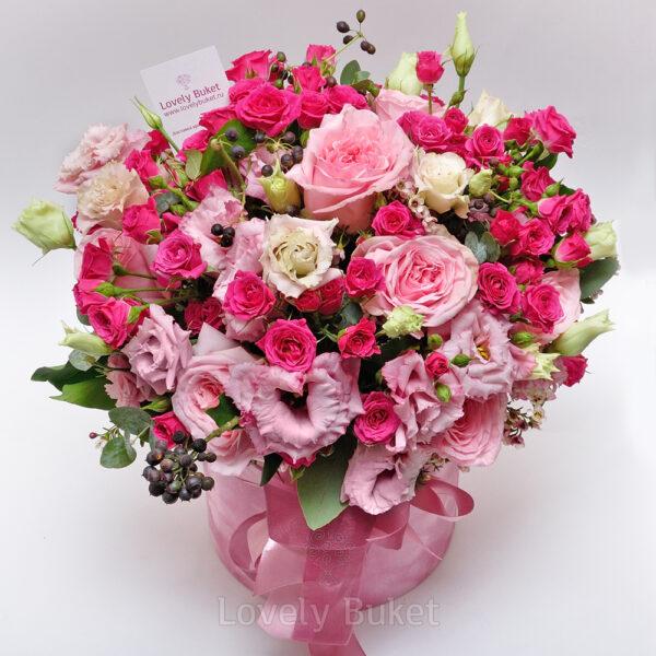 """Букет роз в коробке """"Prima"""" - фото 3"""