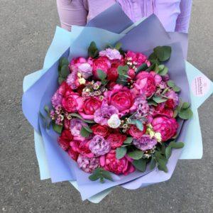 """""""Букет в Амарантовой гамме"""" - фото 1"""