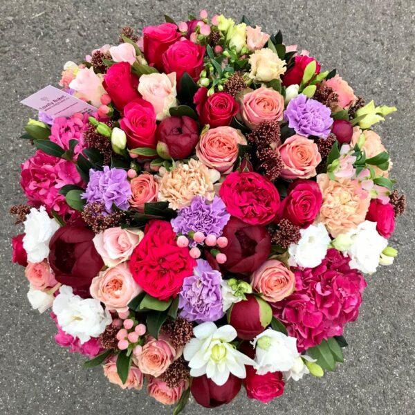 Авторская корзина с пионовидными розами - фото 2