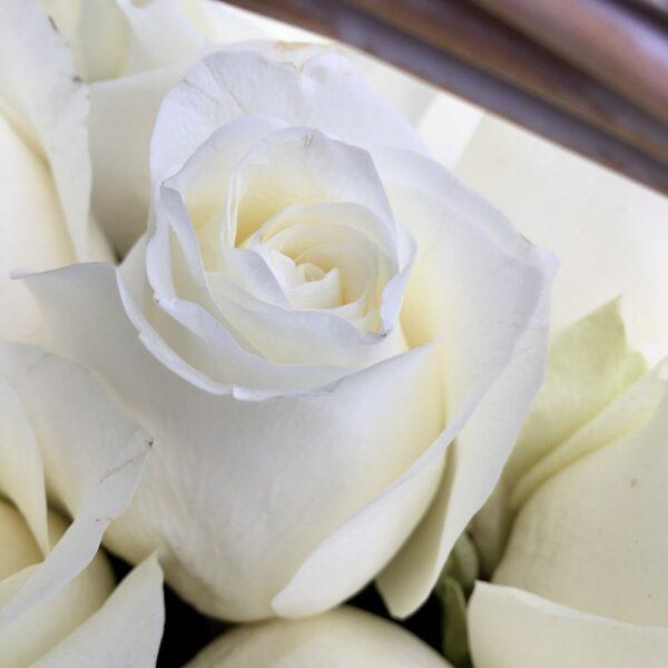 Цветочная композиция в корзине 101 роза Премиум - фото 2