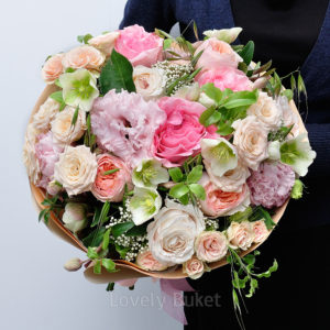"""Нежный букет """"Розовый сад"""" - фото 1"""