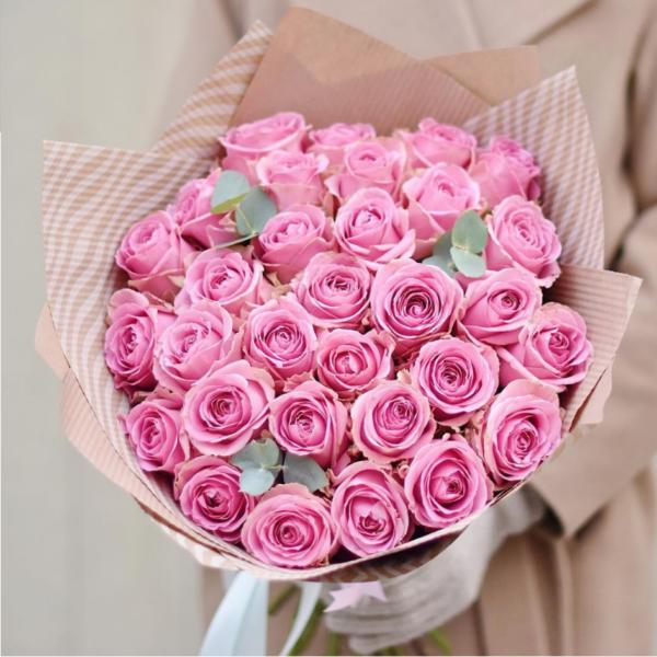 Букет из роз с чайным раскрытием (Голландия) - фото 1
