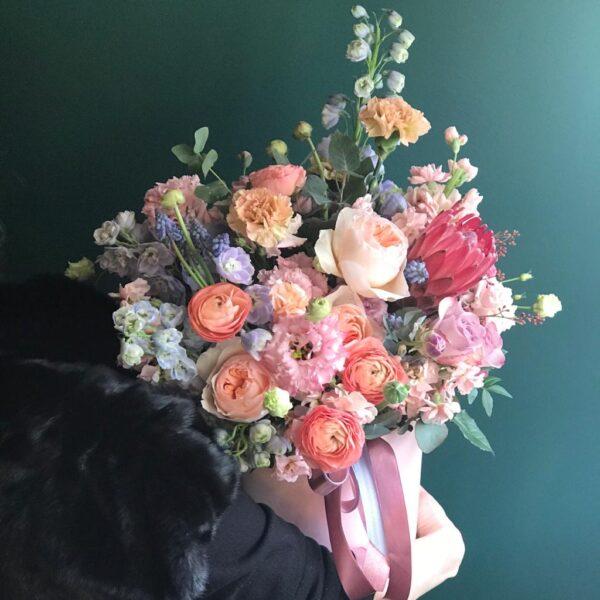 """Яркая цветочная композиция в теплой гамме """"Bella"""" - фото 2"""