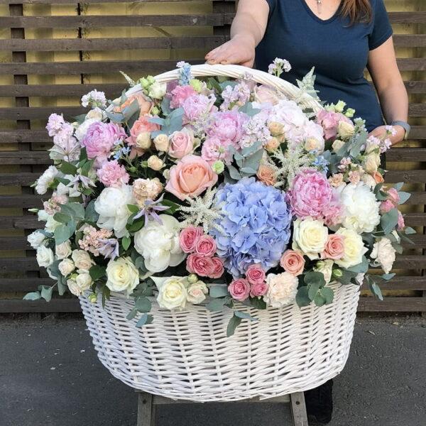 Авторская корзина цветов премиум (XXL) - фото 1