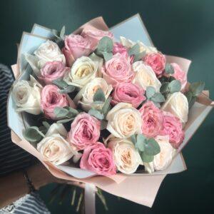 """Букет ароматных садовых роз """"Princesse"""" - фото 1"""