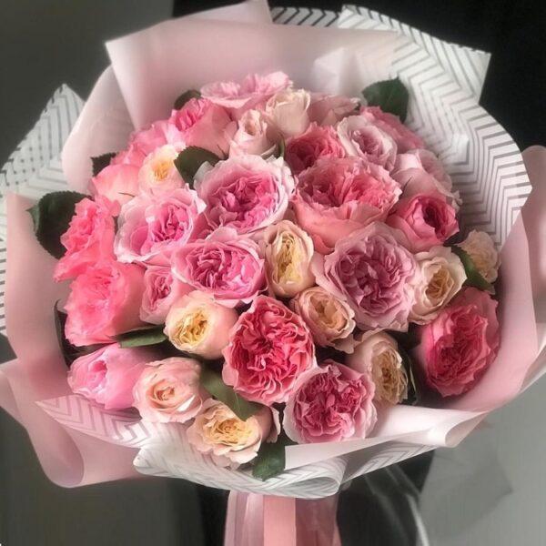 """Букет роз Дэвида Остина """"Сады"""" - фото 1"""
