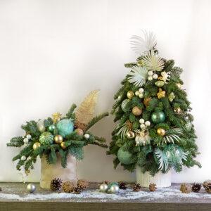Новогодняя композиция с елкой - фото 1