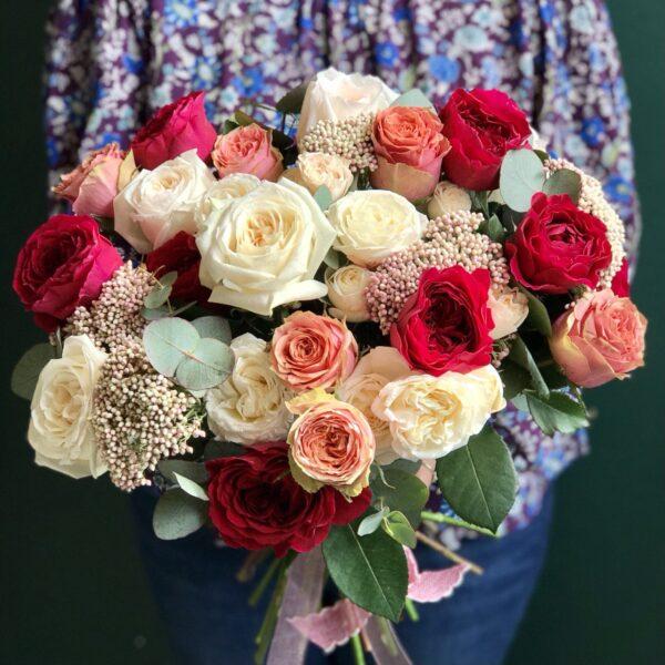 """Букет роз """"Розовый сад под твоим окном..."""" - фото 1"""