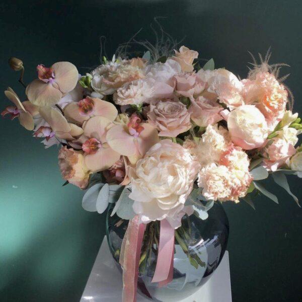 """Букет """"Rene"""" с орхидеей и розами - фото 2"""