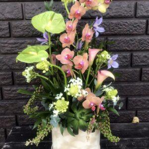 """Цветочная композиция с антуриумами и орхидеей """"Exotic"""" - фото 1"""