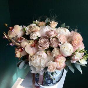 """Букет """"Rene"""" с орхидеей и розами - фото 1"""