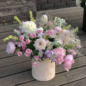 """Композиция """"Волшебные пионы и ароматные розы"""" - фото 1"""