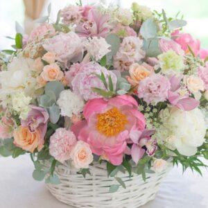 """Цветочная композиция """"Лакомка""""с орхидеями и пионами - фото 1"""