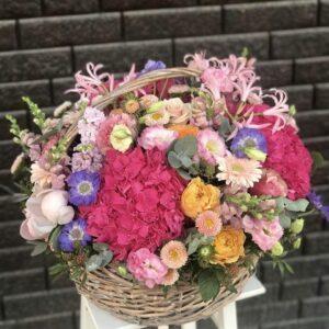 """Композция в корзине """"Когда цветы говорят ..."""" - фото 1"""