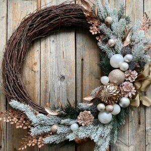 """Новогодний венок """"Прикосновение зимы"""" - фото 1"""