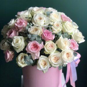 """Ароматные розы в коробке """"Fantastic"""" - фото 1"""